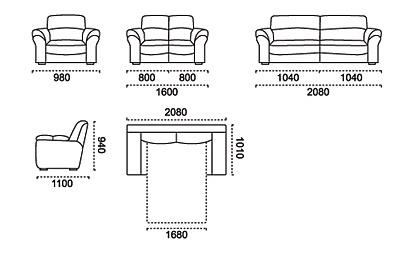 мягкая мебель с реклайнером